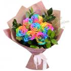 Букет из 7 радужных роз